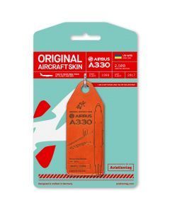 Aviationtag Airbus A330 Windrose - Red