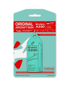 Aviationtag Airbus A330 Windrose - Mint