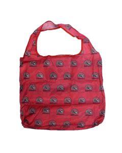 VW T1 Bus Shopper Bag, Foldable, Polyester - Vintage Logo/Red