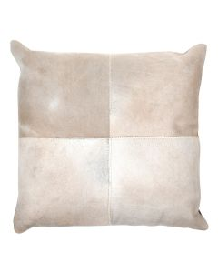 4 Panel Cowhide Cushion Ivory (with insert)
