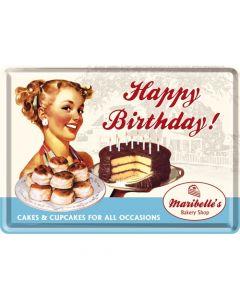 Nostalgic-Art Metal Card Happy Birthday