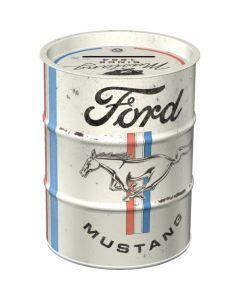 Nostalgic-Art Money Box Oil Barrel Ford Mustang
