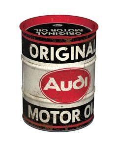 Nostalgic-Art Money Box Oil Barrel Audi Original Motor Oil