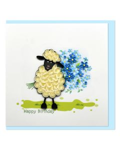 Quilled Card Happy Birthday Sheep