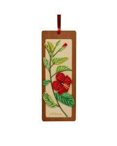 Quilled Bookmark Hibiscus