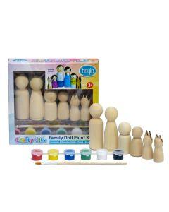 Wooden Doll Family Paint Kit