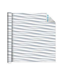 Self Adhesive Vinyl Film White Waves 1.5m x 45cm