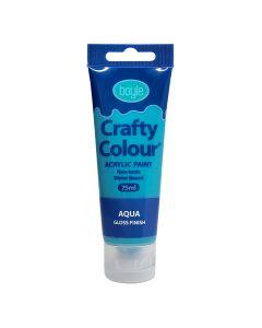 Crafty Colour Acrylics Paint 75ml Aqua