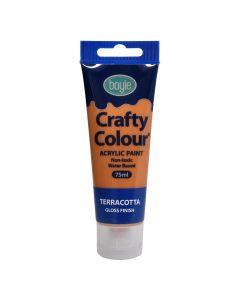 Crafty Colour Acrylic Paint 75ml Terracotta