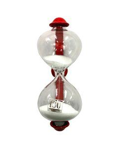 Dulton Magnetic Sandglass Kitchen Timer Red - 3 Minutes